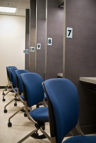 Our Medical Transcription Professionals are not crammed into cubicles like this